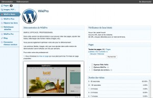 Page d'accueil WikiPro