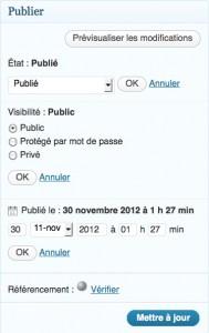 Gestion de la visibilité des pages web