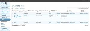 Système de blog intégré