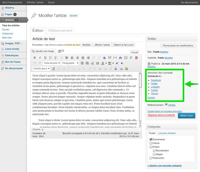 Publier vos articles sur les réseaux sociaux automatiquement