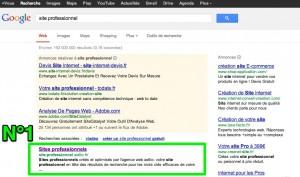 N°1 sur Google